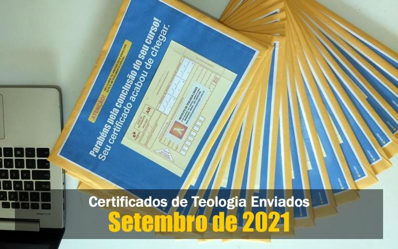 Certificados de Teologia - Setembro 2021